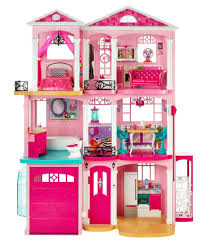 Barbie Pink Plastic Doll House ...