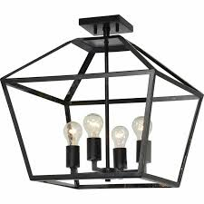 details about renwil new traditional aster 4 light cage chandelier in black and gold