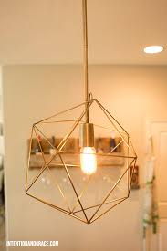 diy pendant lighting from a desk lamp intentionandgrace com