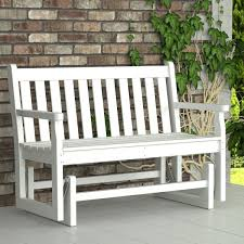 enchanting polywood traditional garden 48 in glider outdoor bench