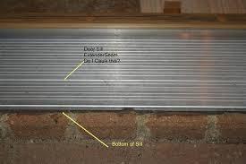 front door thresholdWood Under Door Sill Is Rotted  Building  Construction  DIY