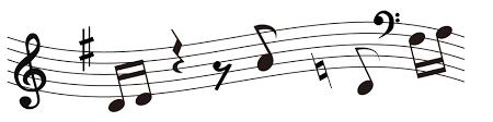 かわいい音符と音楽記号のイラスト