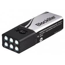 blocklite 36lm 6 led flashlight built in rechargeable 9v battery