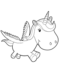 Baby Unicorn Coloring Pages Coloring Pages For Kids 线稿
