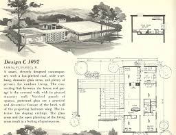 Small Picture Mid Century Modern House Plans Vintage House Plans 1960s