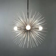 silver urchin starburst sphere chandelier lighting midcentury modern traditional mid century chandeliers classic kitchen dining affordable crystal cool
