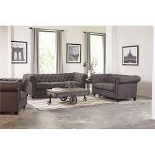 piece on tufted fabric sofa set