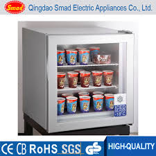 Stand Up Display Freezer Upright Freezer Small Ice Cream Display Freezer Table Top Mini 25