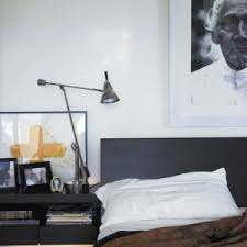 Simple Bachelor Bedroom Ideas With Inspiring Standing Lamp On Side Table