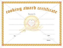 Looking For A Cooking Award Certificate Template For Appreciating