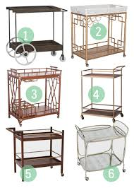 Dazzling bar carts for bar furniture ideas with gold bar cart and diy bar  cart