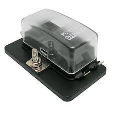0 234 34 durite 4 way mini blade busbar fuse holder fuses box 1 Amp Blade Fuse at Mini Blade Fuse Box