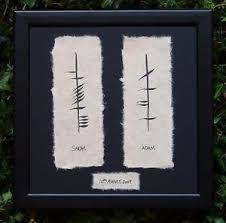 image is loading irish wedding gift ancient irish ogham script framed