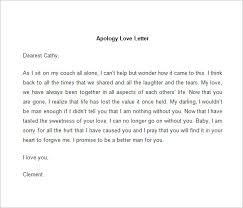 Letter Of Apology Sample Classy 48 Love Letter Templates DOC Free Premium Templates