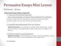 robert e lee high school writing plan ppt  persuasive essays mini lesson