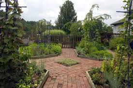 design a garden. A Potager Garden With Brick Path Ways And Different Sections. Design D