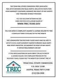 Sample Civil Complaint Form New Consumer Protection Notice TREC