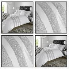 luxury diamante white duvet bedding set duvet cover set