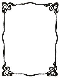 simple black frame png. Simple Pretty Page Borders - Clipart Library Black Frame Png R