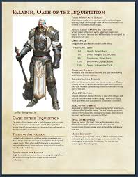 5e Paladin Oath Of The Anti Arcane Morrus Unofficial