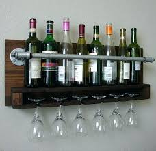 wall wine rack with glass holder 7 creative ways to make wine glass racks a part
