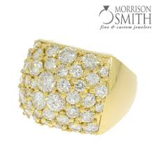 made with various sized diamonds supplied by customer
