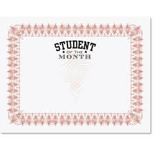 Student Of The Month Certificates Student Of The Month Illustrious Certificates Paperdirects