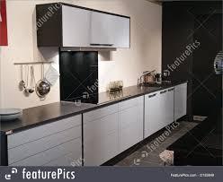 modern kitchen black and white. Interior Architecture: Modern Design Trendy Kitchen With Black And White Wood Elements Metal T