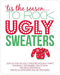 Ugly Sweater Party Invitations - the Holidays are just around the corner!