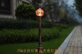 1pcs led bulb included tennis shape garden lawn lamp bronze aluminum outdoor pathway lighting