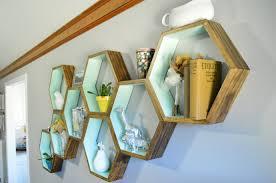 diy honeycomb shelves living room decor