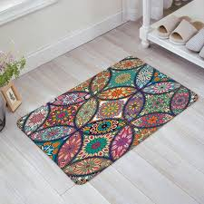 colorful welcome mat. Interesting Colorful Colorful Medallion Mandala With Leaf Flower Figures Print Doormat Welcome  Mat Entrance IndoorOutdoor Throughout AliExpresscom