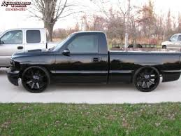 2000 Chevrolet Silverado 1500 KMC KM651 Slide Wheels Gloss Black