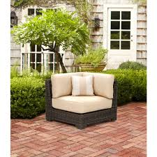 northshore patio corner sectional chair in harvest with regency wren outdoor throw pillow stock cbe heated cooled chair