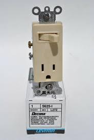 leviton 5625 i ivory combination decora single pole toggle switch leviton 5625 i ivory combination decora single pole toggle switch receptacle for online