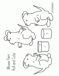 Mouse Paint Printables