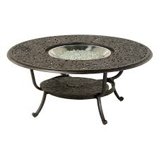 round gas fire pit table. Chateau 48\ Round Gas Fire Pit Table I