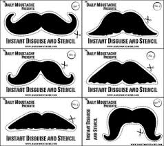 wallet sized moustache cards for disguises or stencils