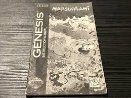 Marsupilami Sega Genesis Manual Only Instruction Booklet black and ...