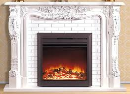 diy faux fireplace insert style wooden mantel electric room heater artificial optical flame stone vintage