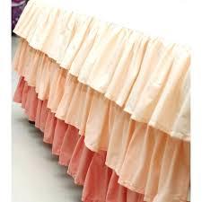 new peach crib skirt c ruffled baby bedding