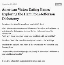 american vision dating game hamilton jefferson and the  american vision dating game hamilton jefferson and the importance of sharing michael k milton 42thinkdeep