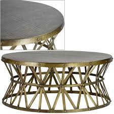 coffee table metal coffee tables round table ferrous material at each side of the table