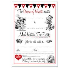 tea party templates tea party flyer template free alice in wonderland invitations blank