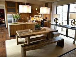 kitchen picnic table farmhouse kitchen table with bench diy kitchen picnic table