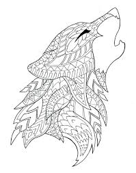 Wolf Coloring Page By On Coloring Pages To Wolf Coloring Page By On