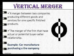 Vertical Merger Example Presentation On Merger Presented By Iliasov E Sarbasov