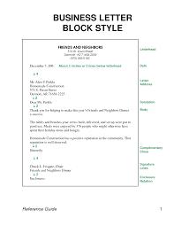 Block Form Business Letter Blocked Letter Style Barca Fontanacountryinn Com