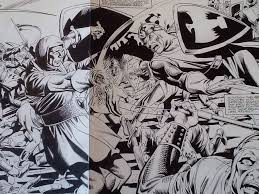 details about batman dark knight of the round table 2 pages 26 27 original art giordano
