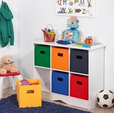 Storage & Organization: Colorful Kids Storage Bins For Toys And Dolls  Including Wooden Storage Organizer